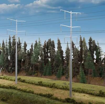 Escala H0 Kit Construcción Postes de Electricidad Hochspannungsmasten 3343 Neu