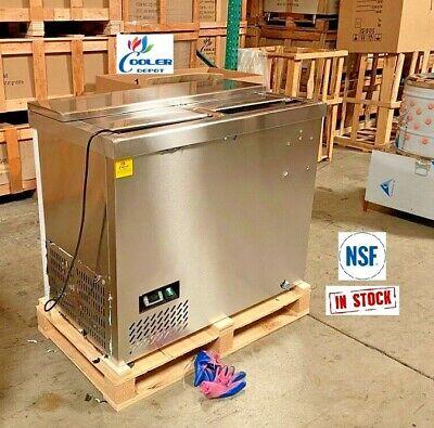 New 39 Top Loading Back Bar Beer Soda Bottle Cooler Deep Well Refrigerator Nsf