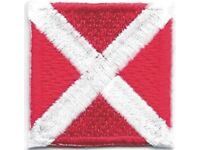 """1 1//4/"""" International Maritime Nautical Signal Flag Letter X X-ray Patch"""