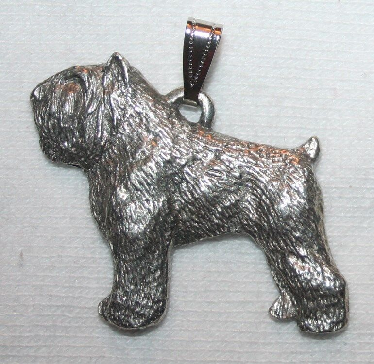 Bouvier des Flandres Dog Harris Fine Pewter Pendant USA Made