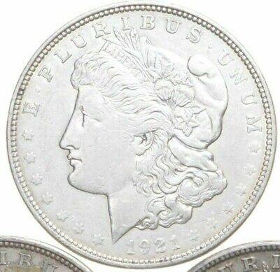 (1) Coin  $1 CULL 1921 Morgan US Silver Dollars Eagle Reverse 90% Bulk Lot
