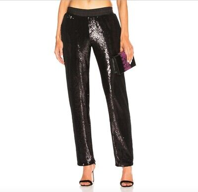 NWT RtA Ash Sequin Pant in Black - Size Small - $575