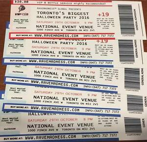 Selling tickets to Toronto's Biggest Halloween Party!
