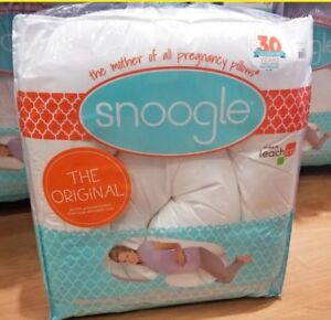 New Snoogle Pregnancy Pillow with Cover
