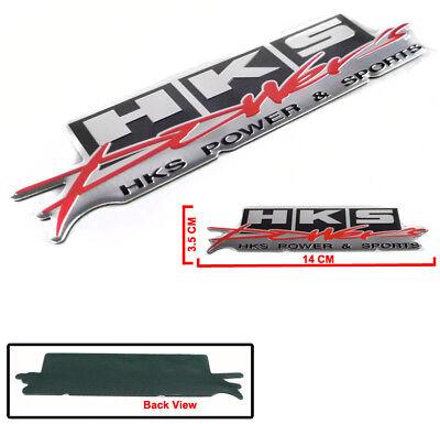 HKS Metal Logo Decal Sticker Sheet Silver Die-Cut Made in Japan 51007-AK231
