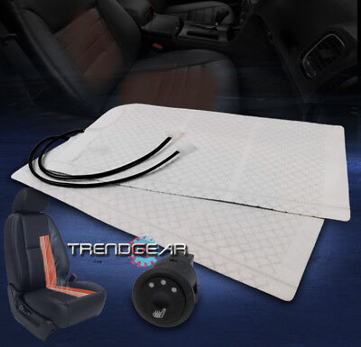 UNIVERSAL HEATED SEAT HEATER PADS W/HI/MID/LOW SWITCH RAM EXCURSION F350 MUSTANG