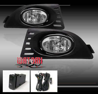 05 06 07 ACURA RSX COUPE 2DR JDM BUMPER DRIVING CLEAR FOG LIGHTS LAMP+SWITCH
