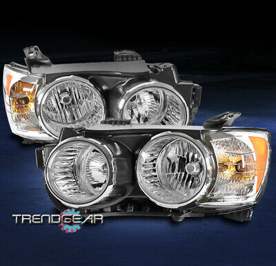 FOR 2012-2016 CHEVROLET SONIC [CHROME BEZEL] REPLACEMENT HALOGEN HEADLIGHTS LAMP