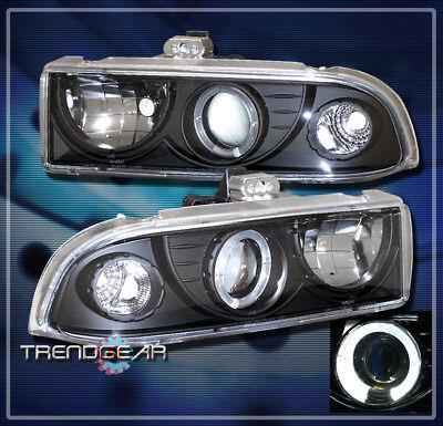 1998-2004 CHEVY BLAZER S10 HALO PROJECTOR HEADLIGHT LAMP BLACK 2001 2002 2003 SS