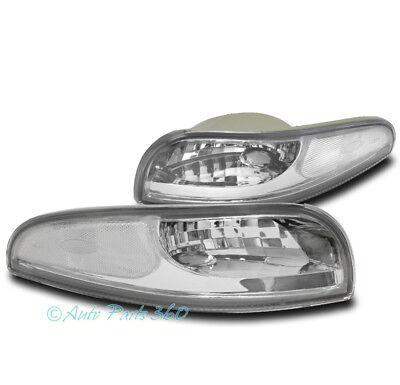 97-04 CHEVY CORVETTE C5 Z06 BUMPER SIGNAL PARKING LIGHTS LAMP CHROME 00 01 02 03 02 03 04 Chevy Corvette