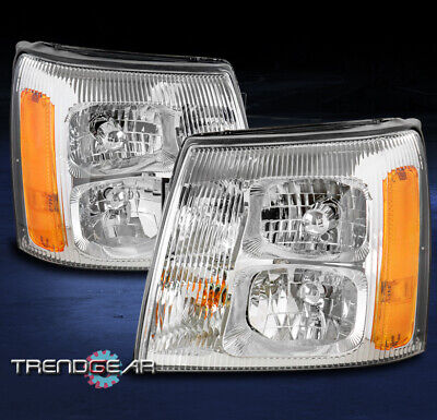 FOR 2003-2006 CADILLAC ESCALADE/ESV/EXT [HID MODEL] REPLACEMENT HEADLIGHT CHROME
