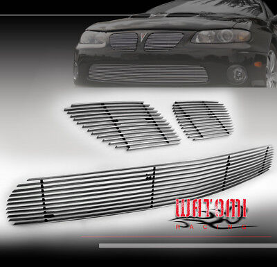 04 05 06 PONTIAC GTO FRONT UPPER + BUMPER LOWER BILLET GRILLE GRILL INSERT COMBO for sale  South San Francisco