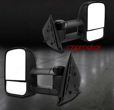 97-03 FORD F-150/04 HERITAGE/97-99 F-250 TOWING EXTENDABLE POWER MIRRORS BLACK
