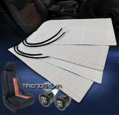 2X HEATED SEAT HEATER PAD KIT+ROUND HI/LOW SWITCH INTREPID RAM EXCURSION MUSTANG