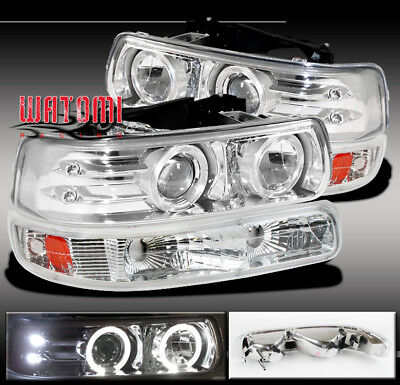 00-06 TAHOE SUBURBAN HALO PROJECTOR HEADLIGHT+BUMPER 04