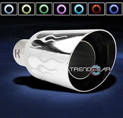 "UNIVERSAL 4"" 7 COLOR LED EXHAUST MUFFLER TIP YUKON DENALI G35 G37 IS300 PICKUP"