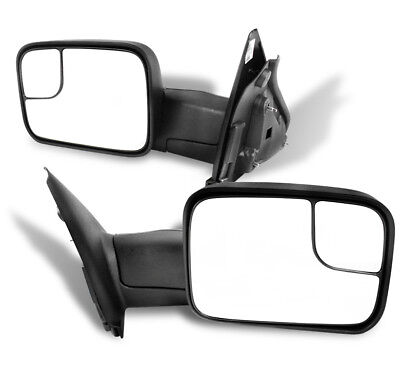 02-08 DODGE RAM 1500/03-09 2500 3500 PICKUP TOWING EXTENDABLE MANUAL MIRRORS SET