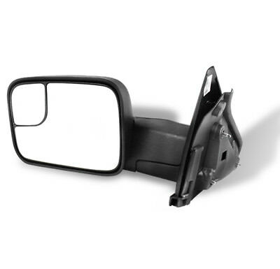 02-08 DODGE RAM 1500/03-09 2500 3500 TOWING EXTENDABLE MANUAL MIRROR DRIVER LEFT