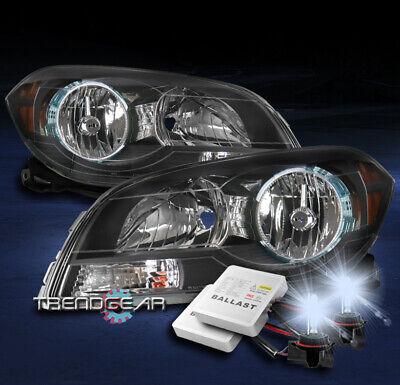 FOR 2008-2012 CHEVROLET MALIBU REPLACEMENT HEADLIGHTS LAMP BLACK W/8K XENON HID