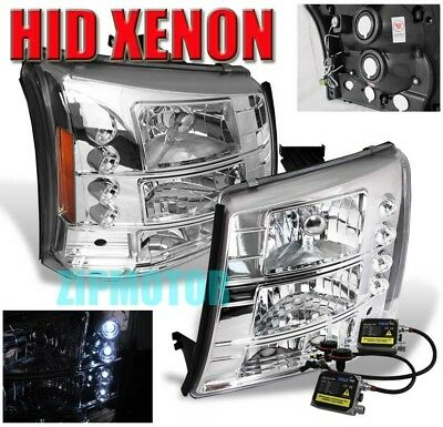 2003-2006 SILVERADO LED HEAD LIGHT+BUMPER+6000K HID KIT