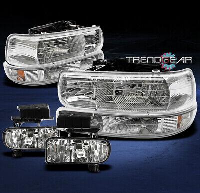 1999-2002 SILVERADO/2000-2006 TAHOE SUBURBAN CRYSTAL HEAD LIGHTS+BUMPER+FOG LAMP