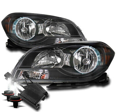 FOR 08-12 CHEVROLET MALIBU REPLACEMENT HEADLIGHTS LAMPS BLACK W/50W 8K HID KIT