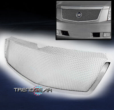 2007-2013 CADILLAC ESCALADE FRONT UPPER STAINLESS STEEL MESH GRILLE GRILL CHROME