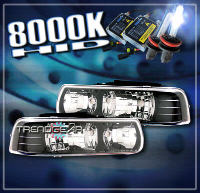 1999-2002 CHEVY SILVERADO/2000-2006 TAHOE SUBURBAN CRYSTAL HEADLIGHTS+HID BLACK