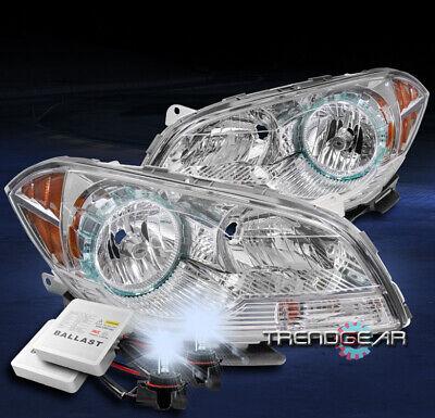 FOR 2008-2012 CHEVROLET MALIBU REPLACEMENT HEADLIGHTS LAMP CHROME W/8K XENON HID