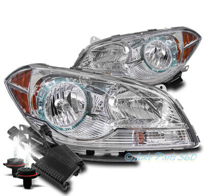 FOR 08-12 CHEVROLET MALIBU REPLACEMENT HEADLIGHTS LAMPS CHROME W/50W 6K HID KIT