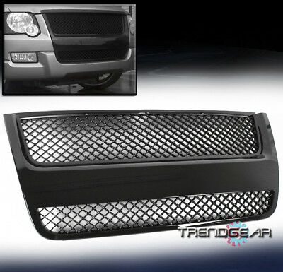 2007-2010 FORD EXPLORER/SPORT TRAC MESH FRONT UPPER HOOD GRILLE GRILL ABS BLACK