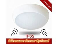 New 15W/18W/24W Flush Mount LED Ceiling Light Cool White Waterproof Microwave Sensor Bathroom