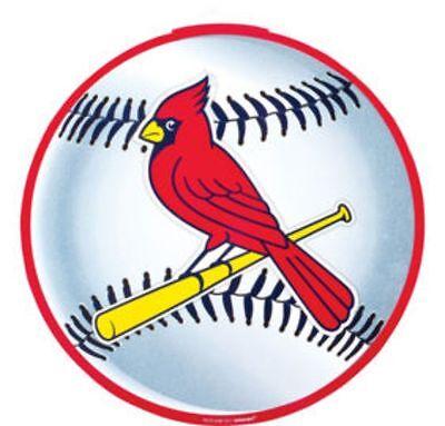 ST. LOUIS CARDINALS BASEBALL PLATES MLB Party Supply 9 inch 4-5b