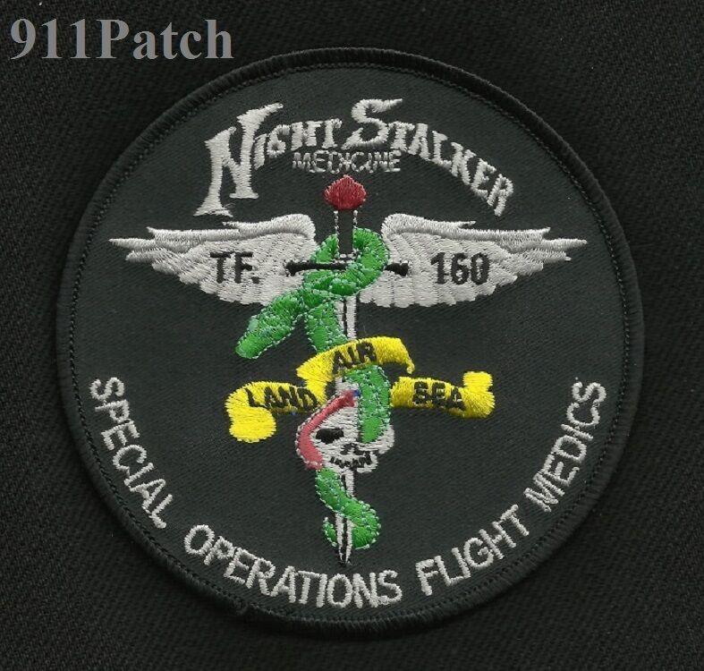 Special Operations Flight Medic Search and Rescue SOAR Nightstalker ARMY Patch