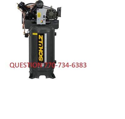 Schulz V-series 7580vv30x-3 7.5-hp 80-gallon Two-stage Air Compressor 3 Ph 460v