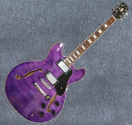New FF338 Semi-Hollow body Guitar Electric Gutiar(Purple Color)