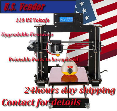 2017 Prusa I3 Based DIY 3D printer LCD Same day Shipping from US+1 Roll PLA ABS