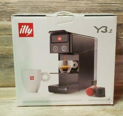 illy 60296 Y3.2 iperespresso Coffee Capsule Machine, Black, Brand New & Sealed