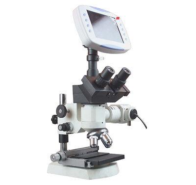 Trinocular Metallurgical Microscope W Xy Stage 2mp Tv Camera 6 Lcd 1gb Storage