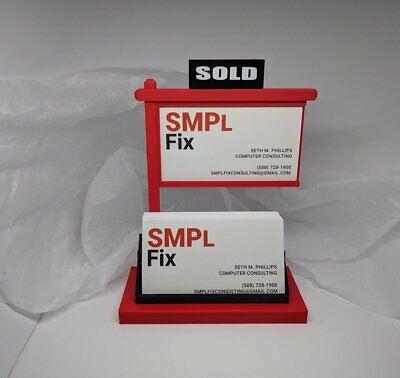 Real Estate Business Card Holder-real Estate Card Display-red Black