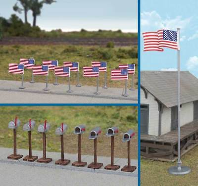 Ho Scale Flags (Walthers Scenemaster HO Scale American Flags and Mailboxes)