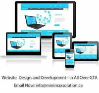 Creative Web Design and Development at $187 Only