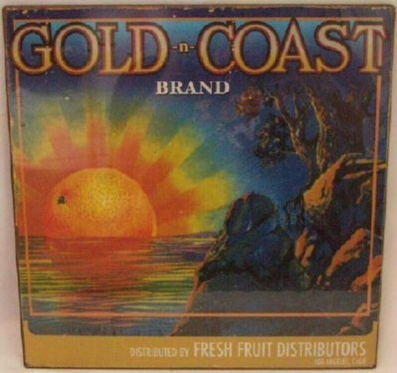 Gold N Coast - Oranges Fresh Fruit Tin Sign - NEW