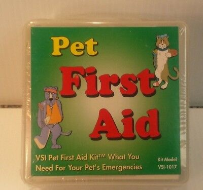 "NIB Dog and Cat ""PET FIRST AID KIT"" VSI Kit Model #1017"