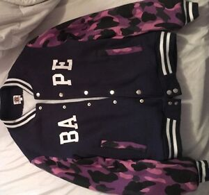 Authentic Bape varsity sweater jacket for sale