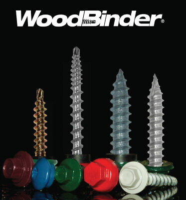 10x1-12 Metal Roofsiding Pole Barn Woodbinder 14 Hex Drive - 250 Count