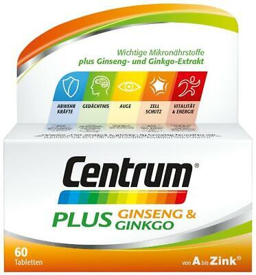 Centrum Plus Ginseng & Ginkgo Tabletten 60 St PZN: 12526569