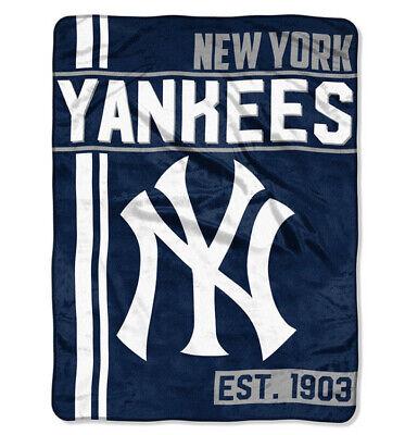 New MLB New York Yankees Super Soft Micro Rasche Large Throw Blanket 46