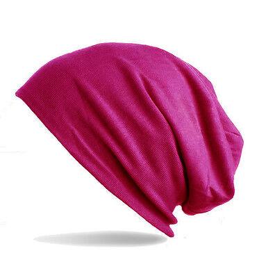 Unisex Jersey Ballonmütze vintage Beanie Long Mütze angenehm zu tragen 1843