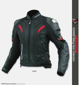KOMINE motorcycle JK-052 Titanium Leather Mesh Jacket R Spec.